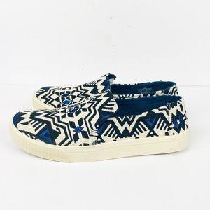 Toms 8 Sunset Slip On Sneakers Stellar Blue Aztec
